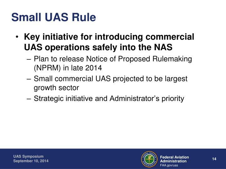 Small UAS Rule