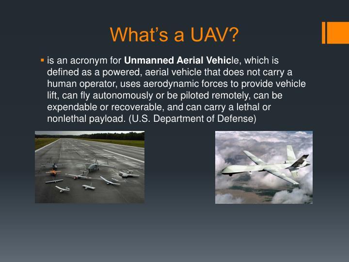 What's a UAV?
