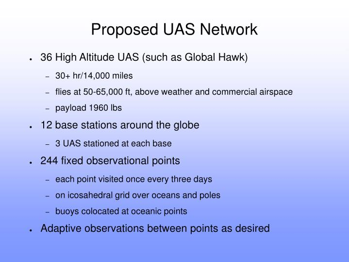Proposed UAS Network