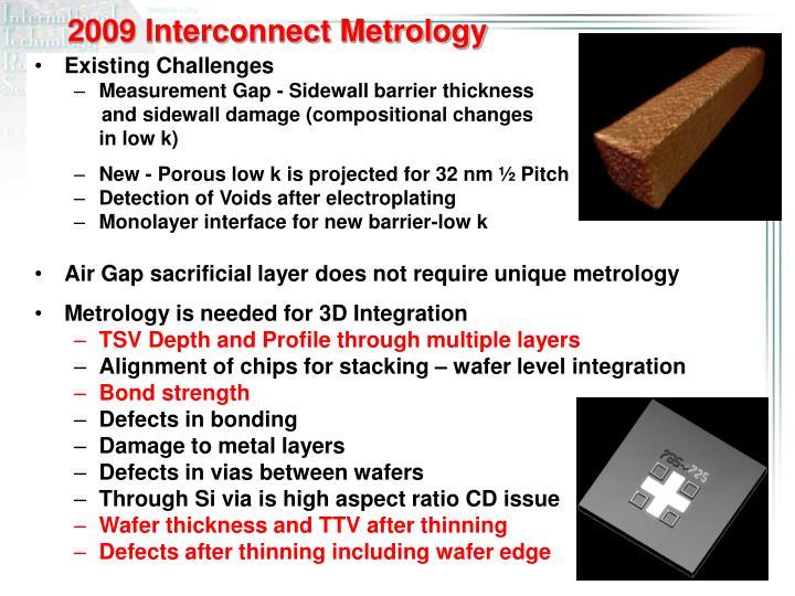 2009 Interconnect Metrology