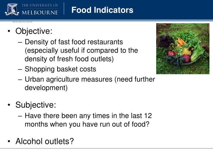Food Indicators