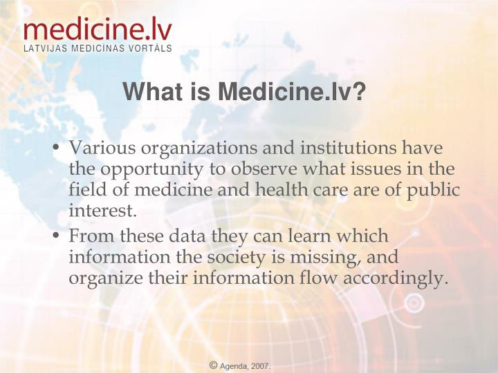 What is Medicine.lv?