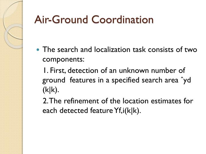 Air-Ground Coordination