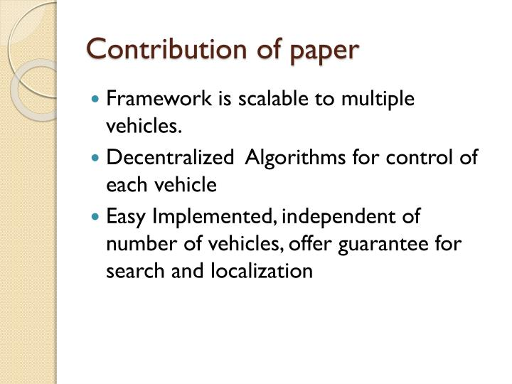 Contribution of paper