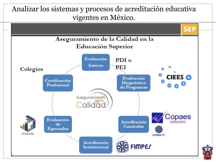 Analizar los sistemas y procesos de