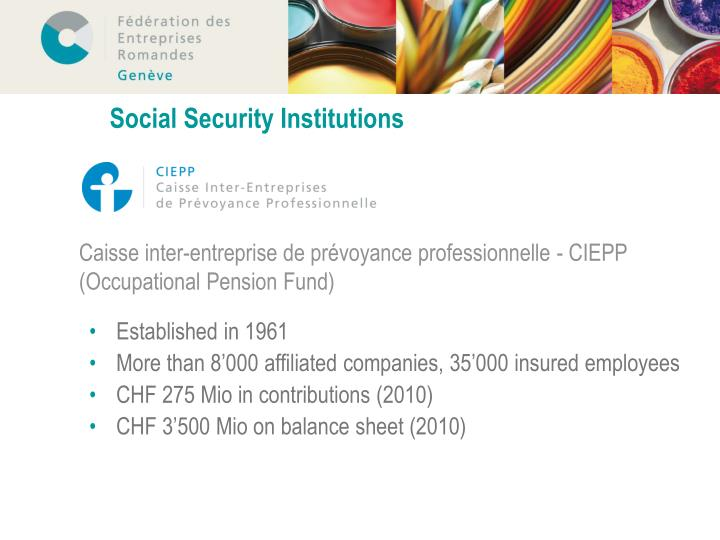 Social Security Institutions