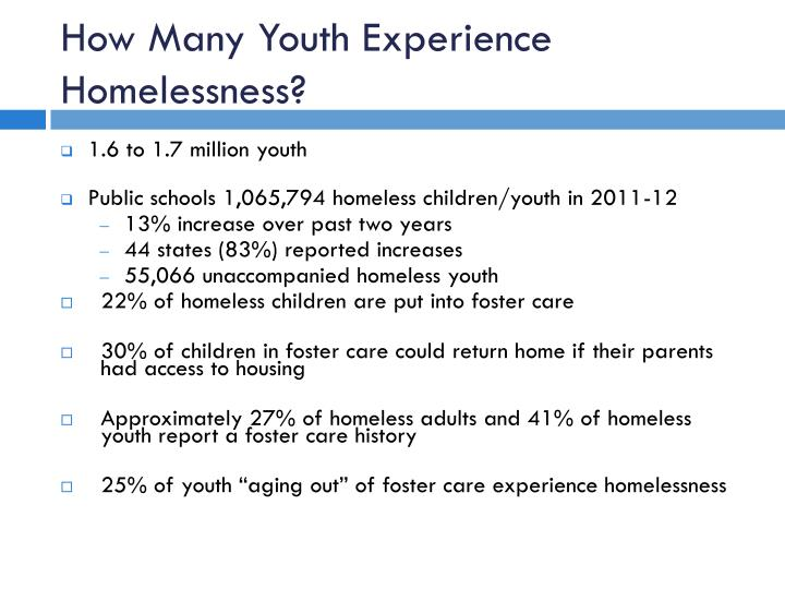 How Many Youth Experience Homelessness?