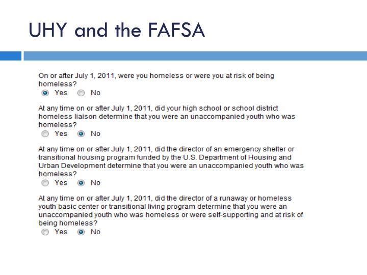 UHY and the FAFSA