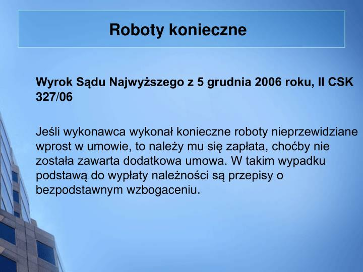 Roboty konieczne