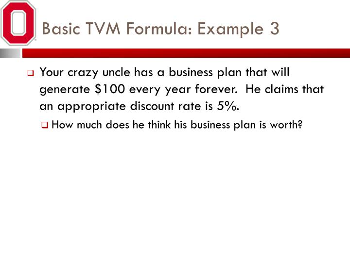 Basic TVM Formula: Example 3