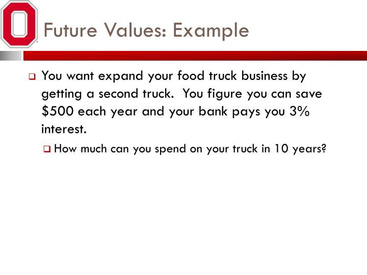 Future Values: Example