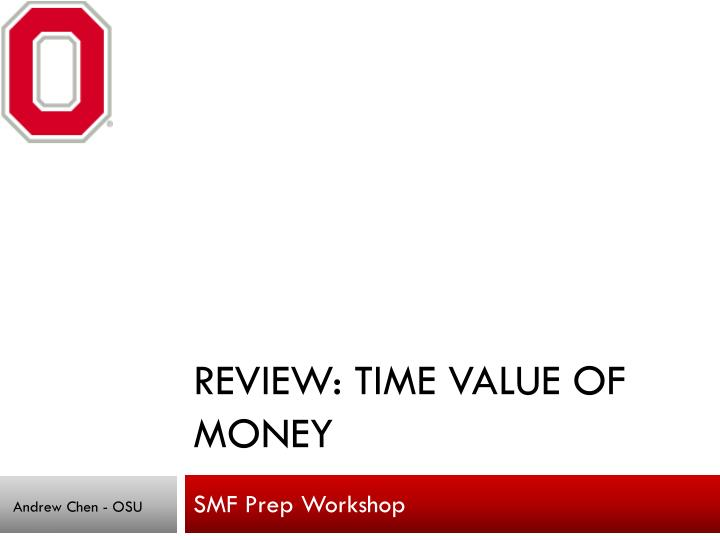 Review time value of money