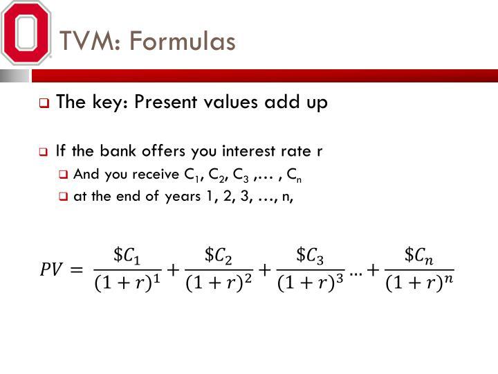 TVM: Formulas