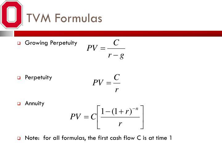 TVM Formulas