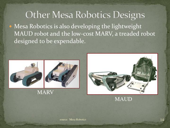 Other Mesa Robotics Designs