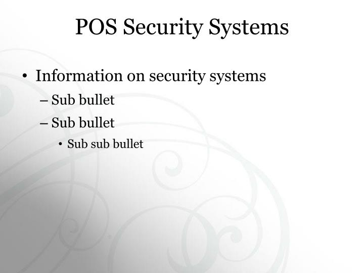 POS Security Systems