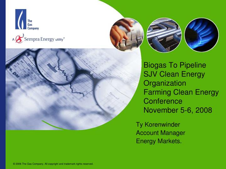 Biogas To Pipeline