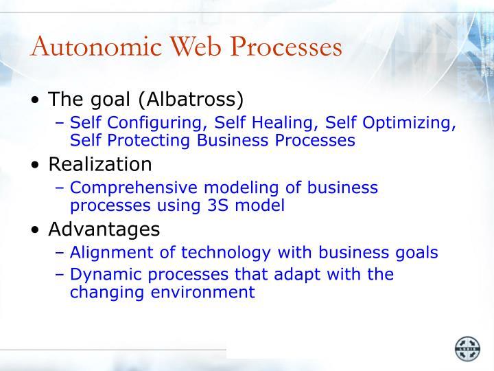 Autonomic Web Processes