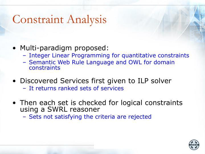 Constraint Analysis
