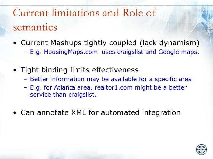 Current limitations and Role of semantics