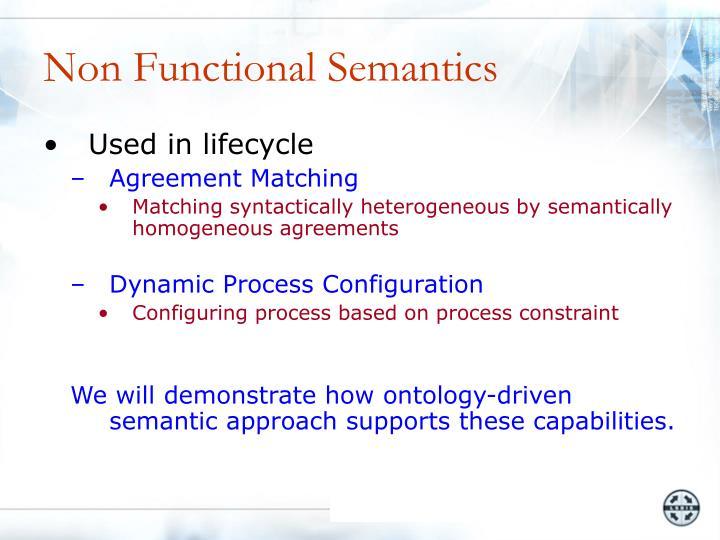 Non Functional Semantics