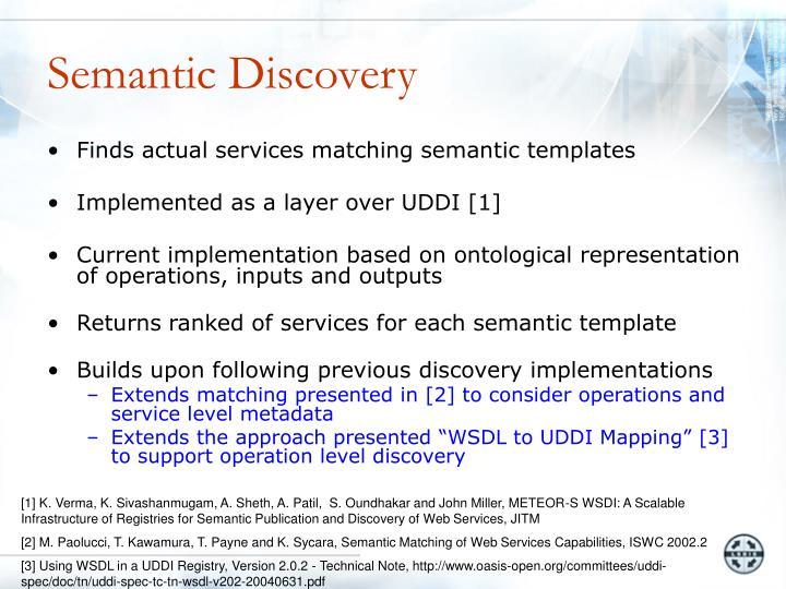 Semantic Discovery