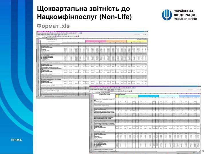 Щоквартальна звітність до Нацкомфінпослуг (Non-Life)