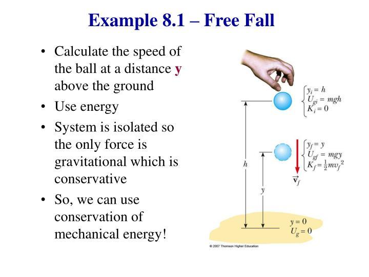 Example 8.1 – Free Fall