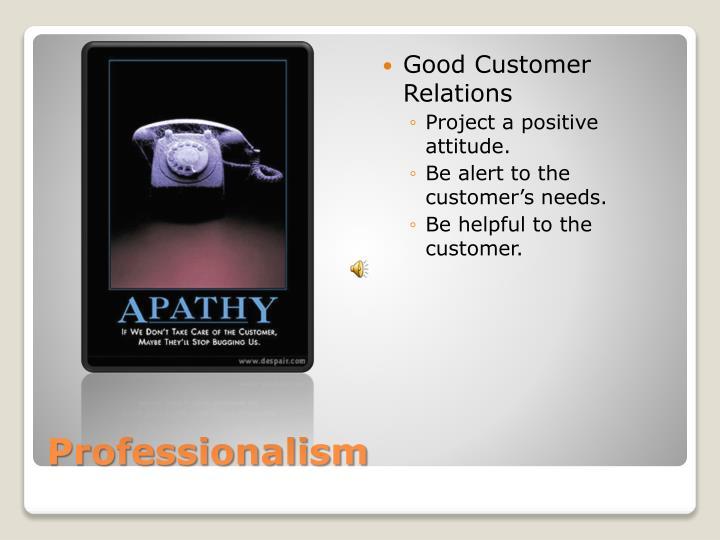 Good Customer Relations