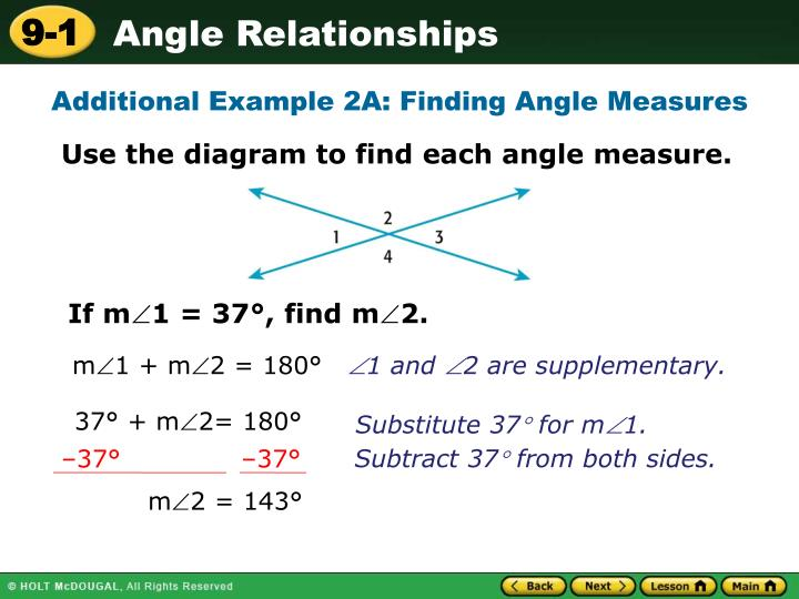 Additional Example 2A: Finding Angle Measures