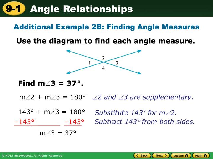 Additional Example 2B: Finding Angle Measures