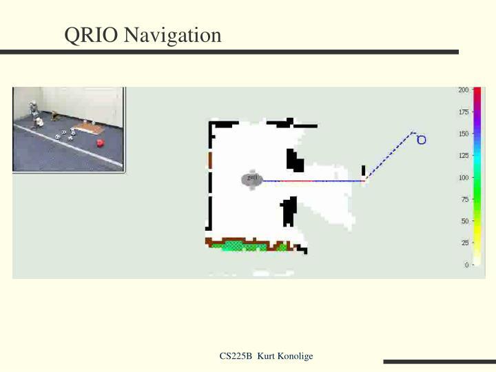 QRIO Navigation