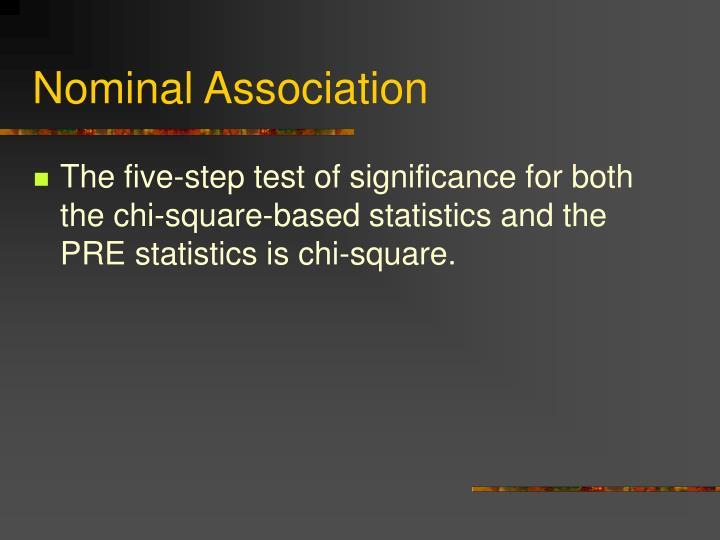 Nominal Association