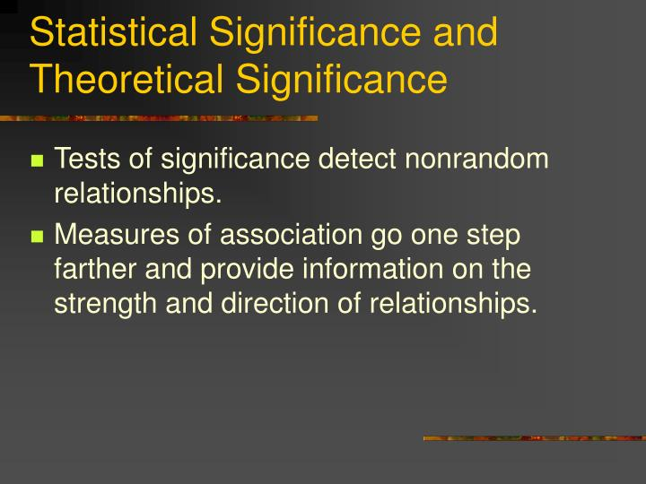 Statistical Significance and Theoretical Significance