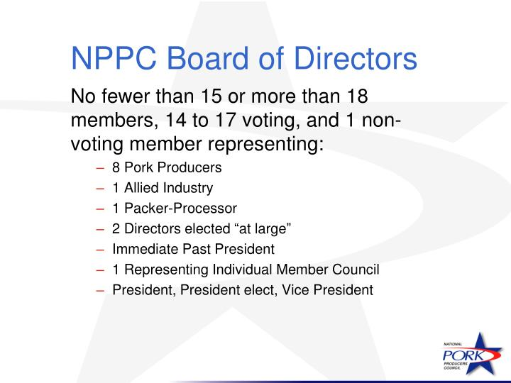 NPPC Board of Directors