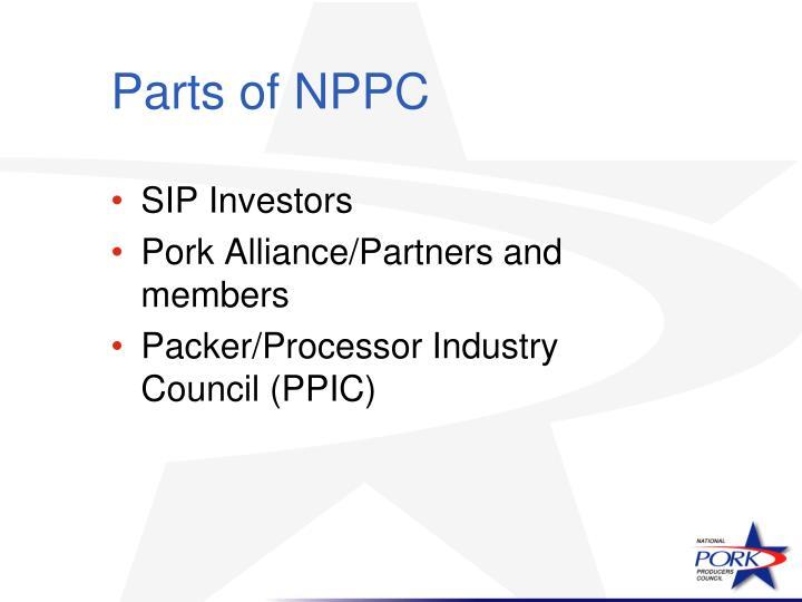 Parts of NPPC