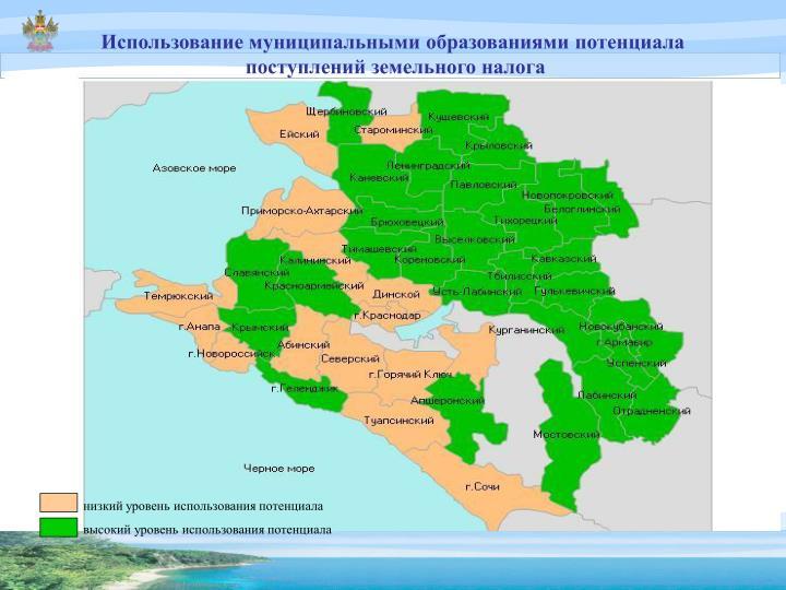 Использование муниципальными образованиями потенциала