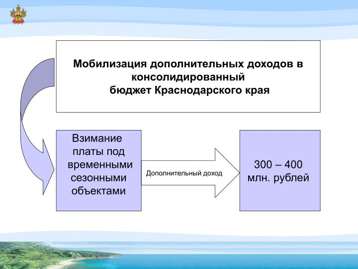Мобилизация дополнительных доходов в