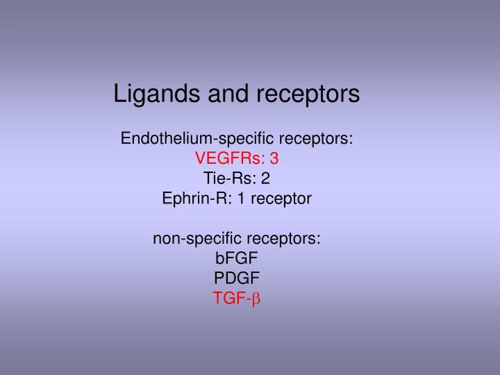 Ligands and receptors