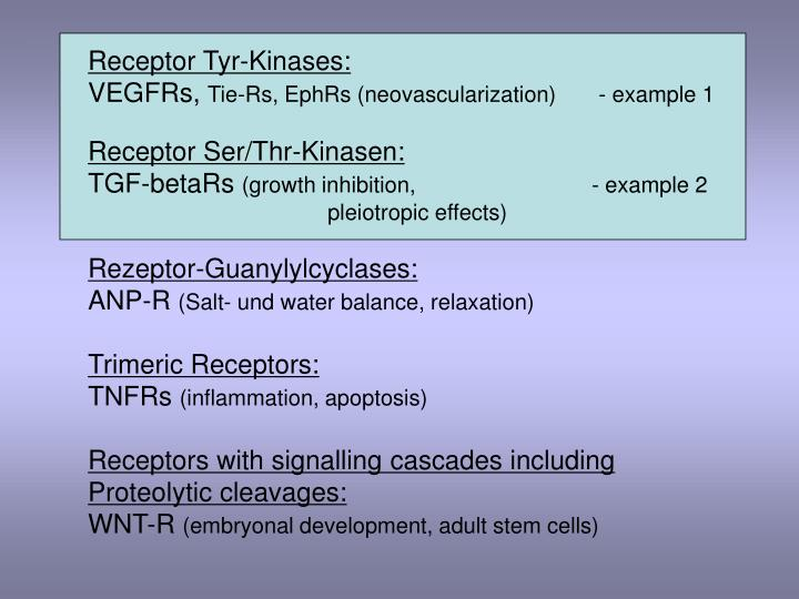 Receptor Tyr-Kinases: