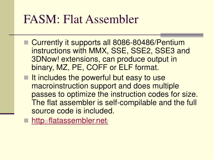 FASM: Flat Assembler