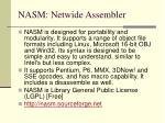 nasm netwide assembler