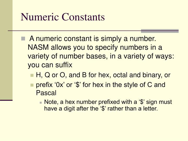 Numeric Constants