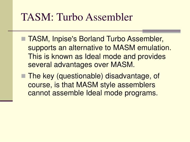 TASM: Turbo Assembler
