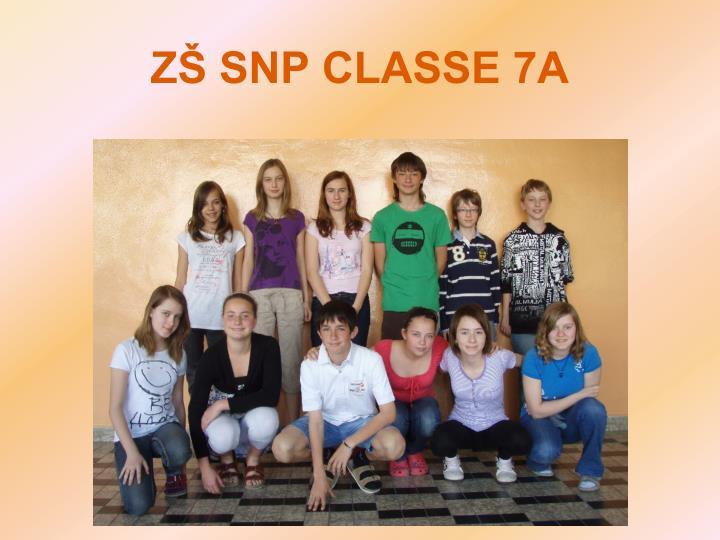 ZŠ SNP CLASSE 7A