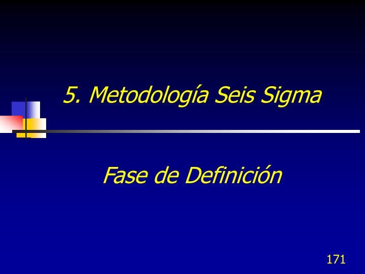 5. Metodología Seis Sigma