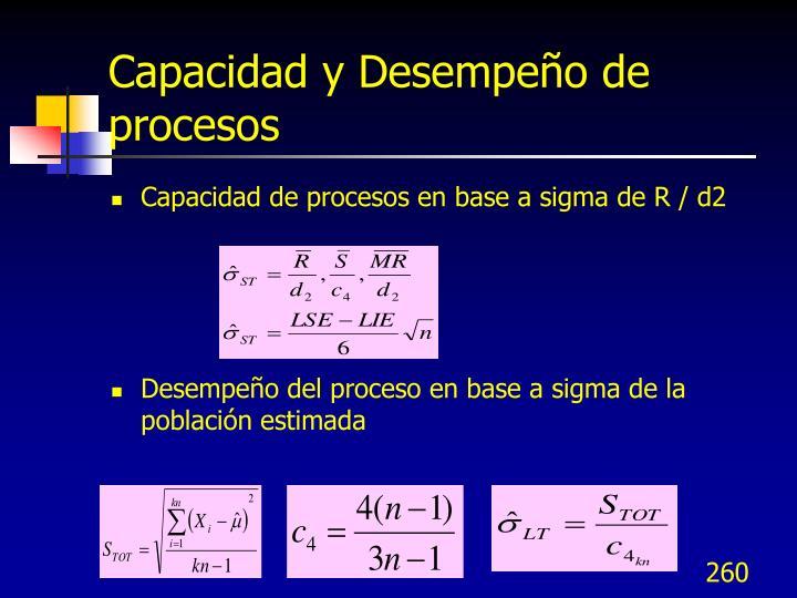 Capacidad y Desempeño de procesos