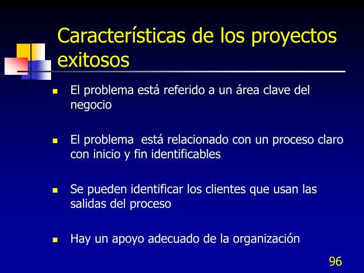 Características de los proyectos exitosos