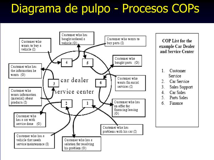 Diagrama de pulpo - Procesos COPs