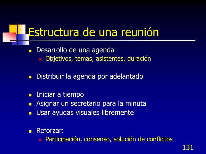 Estructura de una reunión